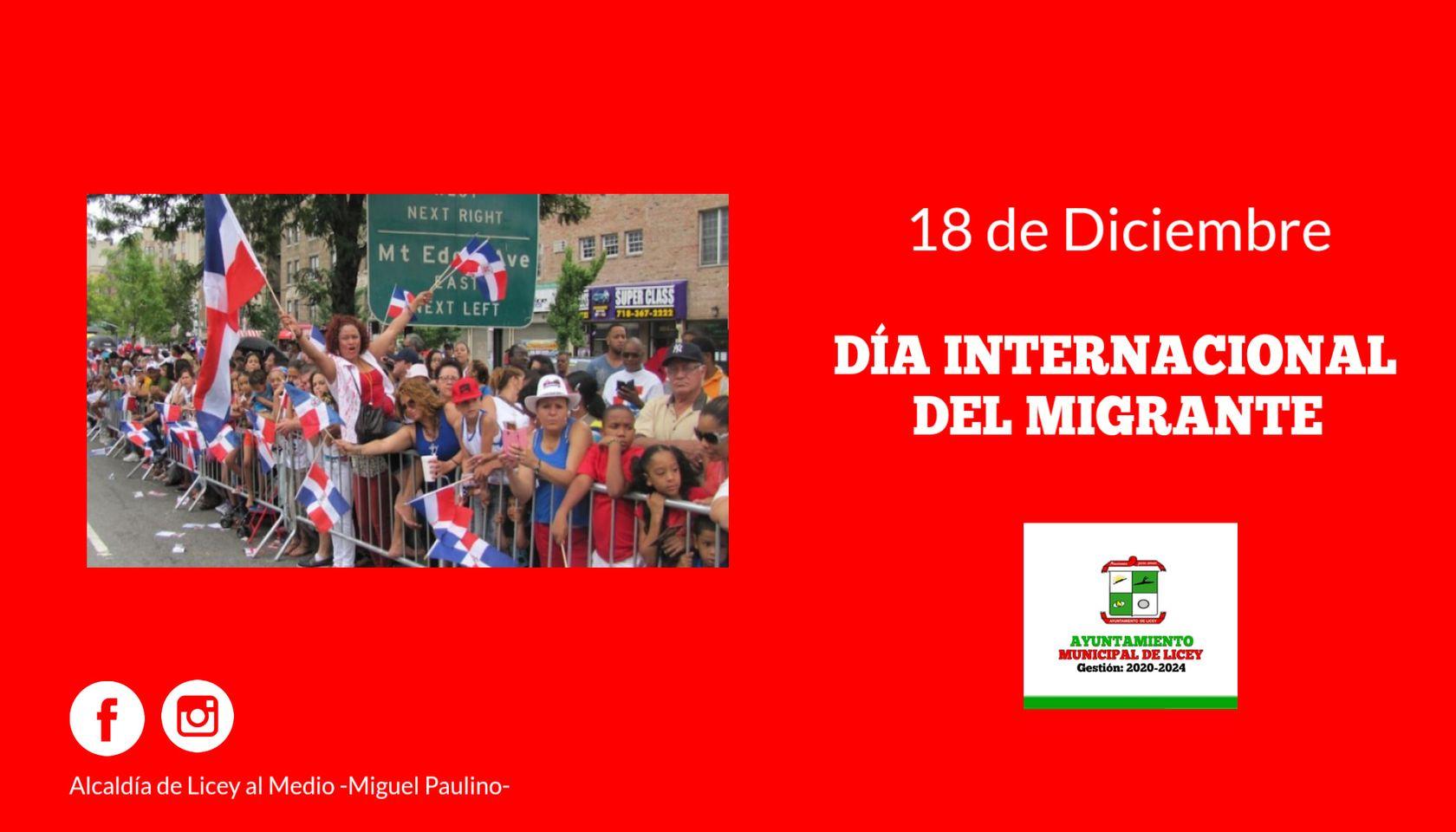 DÍA INTERNACIONAL DEL MIGRANTE.