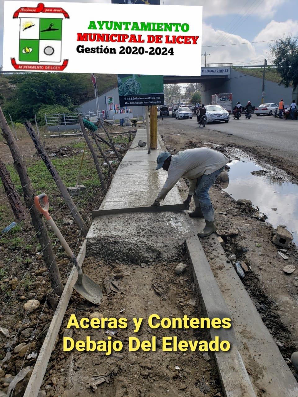 Ayuntamiento Continúa la Fiscalizaciónde los trabajos de adecuación y remoción en la entrada del municipio por el elevado de la Circunvalación Norte.