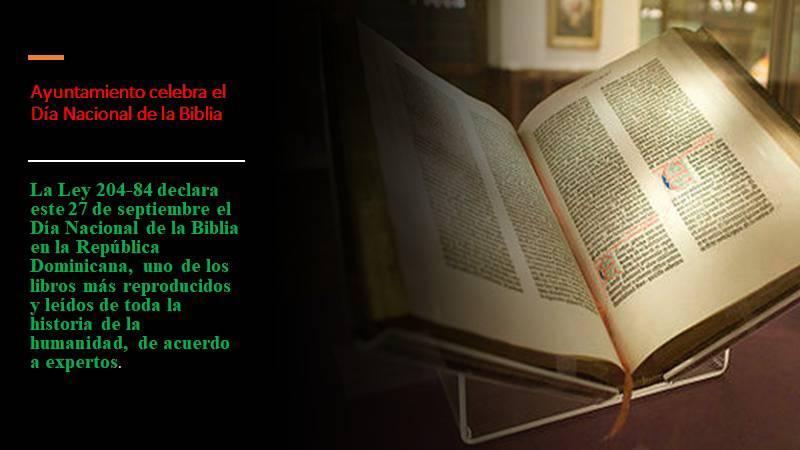 27 de septiembre el Día Nacional de la Biblia.