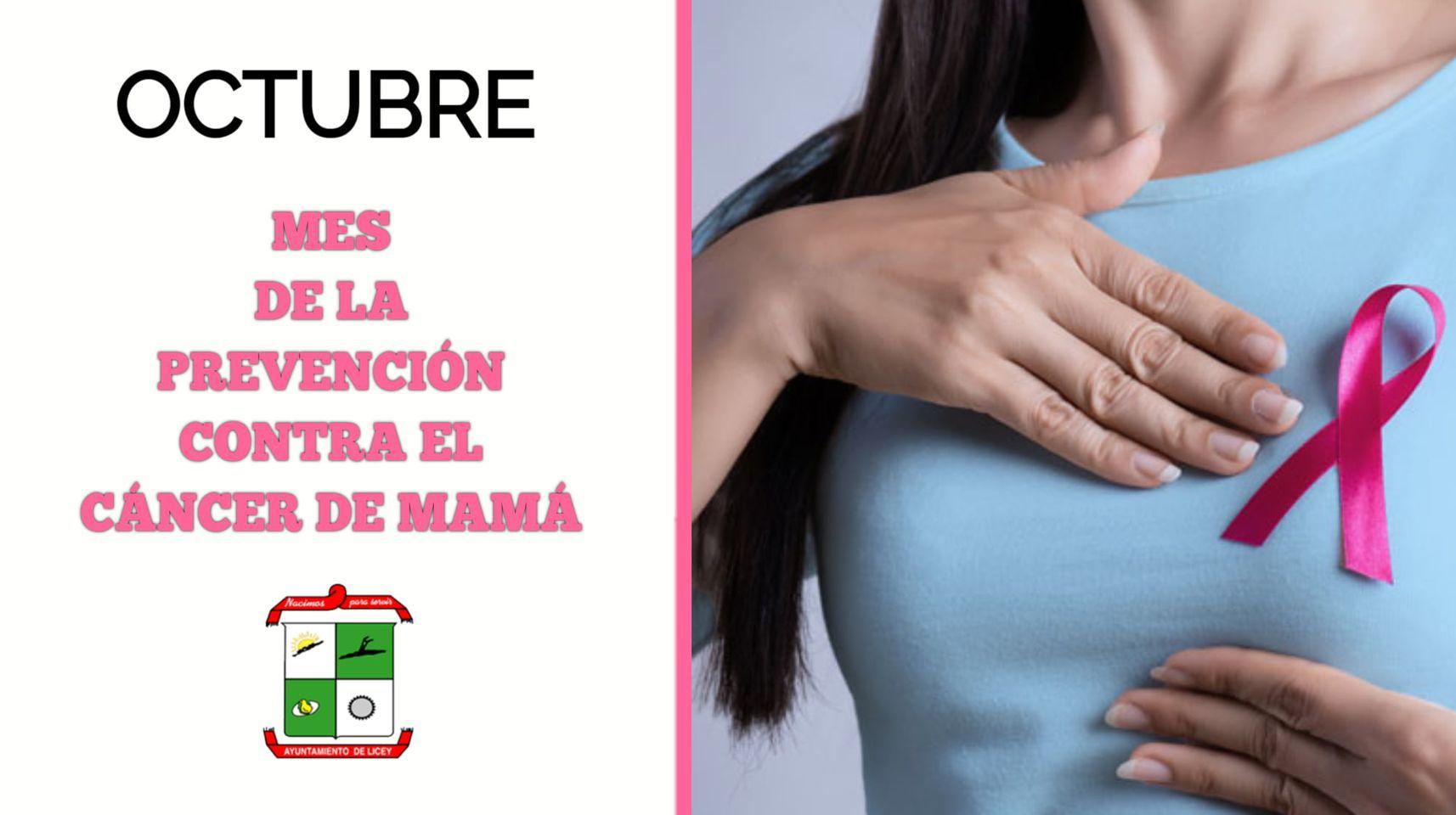 OCTUBRE, MES DE LA PREVENCION CONTRA EL CANCER DE MAMA